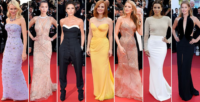 Blake Lively, Victoria Beckham, Bella Hadid, Lily Donaldson on cannes film festival red carpet