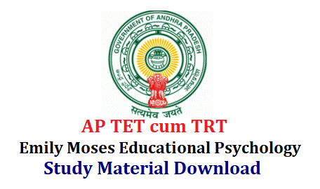 Emily Moses Educational Psychology Study Material Useful for DSC and Hostel Welfare Officers Download Educational Psychology Study Material prepared by Dr Moses Emily Academy Hyderabad Download useful for TSPSC Hostel Welfare officers Recruitment Notification in Telangana various Residential School of BC Tribal Welfare. Syllabus for HWOs mentioned in Detailed Notification isued by Telangana State Public Service Commission Online Application has been closed on 06.03.2018 Exam Dates will be anounced by the officials soon. useful-for-ap-dsc-ts-trt-hostel-welfare-officers-emily-moses-educational-psychology-study-material-download Emily Educational Psychology Study Material/2018/03/useful-for-ap-dsc-ts-trt-hostel-welfare-officers-emily-moses-educational-psychology-study-material-download.html