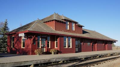 train station, historical, Ogema, Saskatchewan, C.P.R.