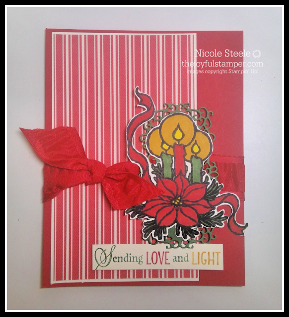 Christmas card using Stampin' Up!'s God's Peace stamp set, Toile Tidings Designer Series Paper, and Stampin' Write Markers by Nicole Steele The Joyful Stamper