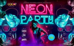 fiesta neon para niñas
