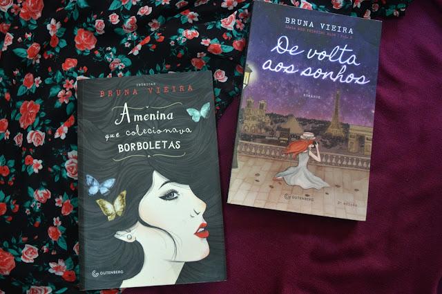Livros A Menina que colecionava Borboletas e De Volta aos Sonhos