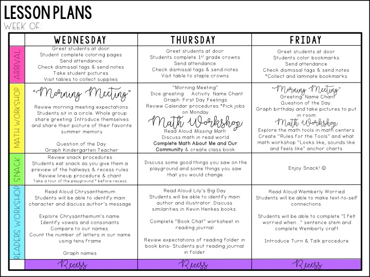 morning meeting lesson plan template.html