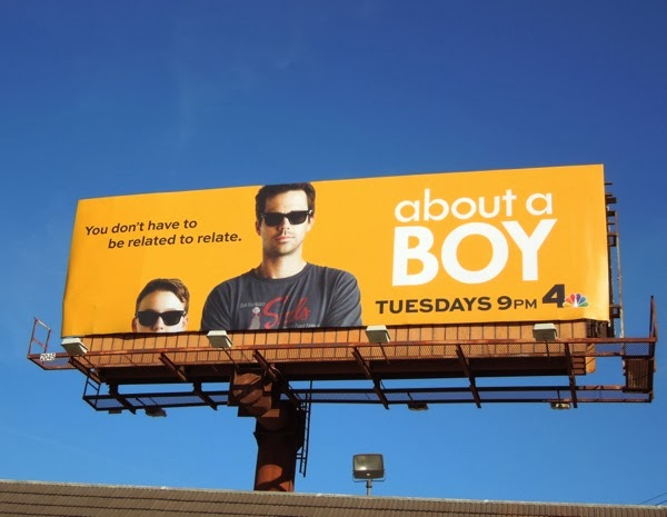 About a Boy series launch billboard