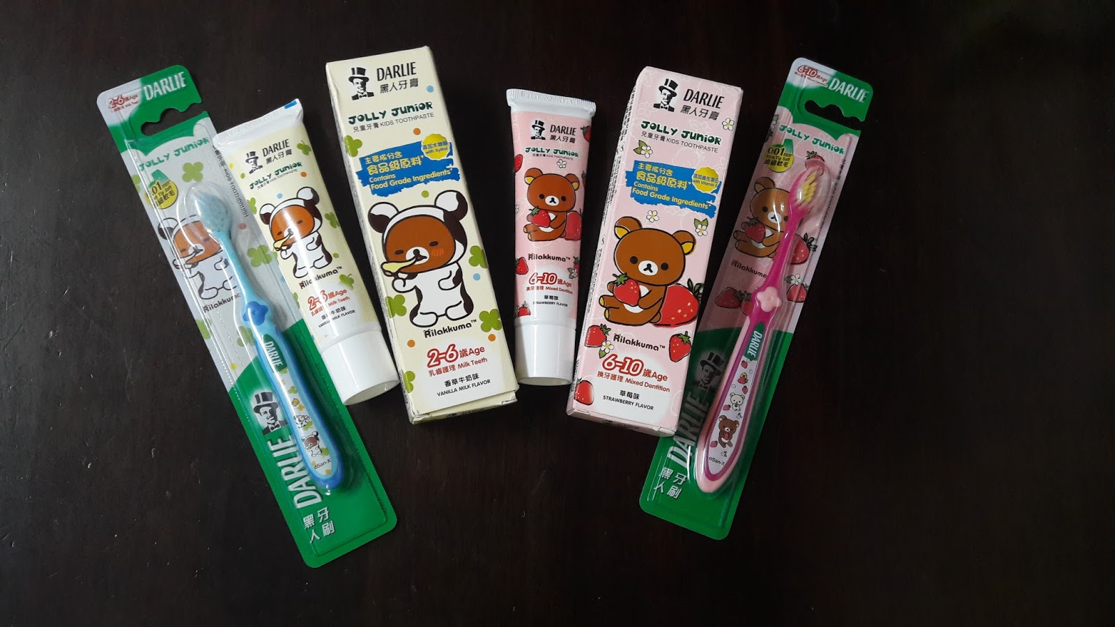 My Blogs Darlie Jolly Junior Toothpaste And Toothbrush Makes After Trying Out The New Toothpastes Toothbrushes They Love Brushing Teeth Everyday Really Like Cute Rilakkuma Packaging