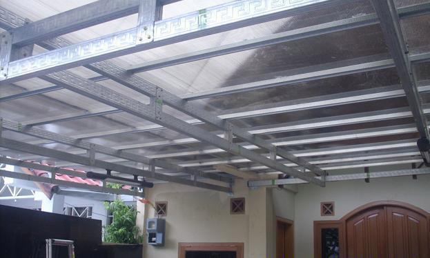 rangka atap baja ringan untuk teras kanopi murah di bandung 081394632893:cv ...