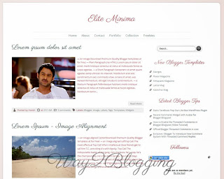 Elite Minima Blogger Template