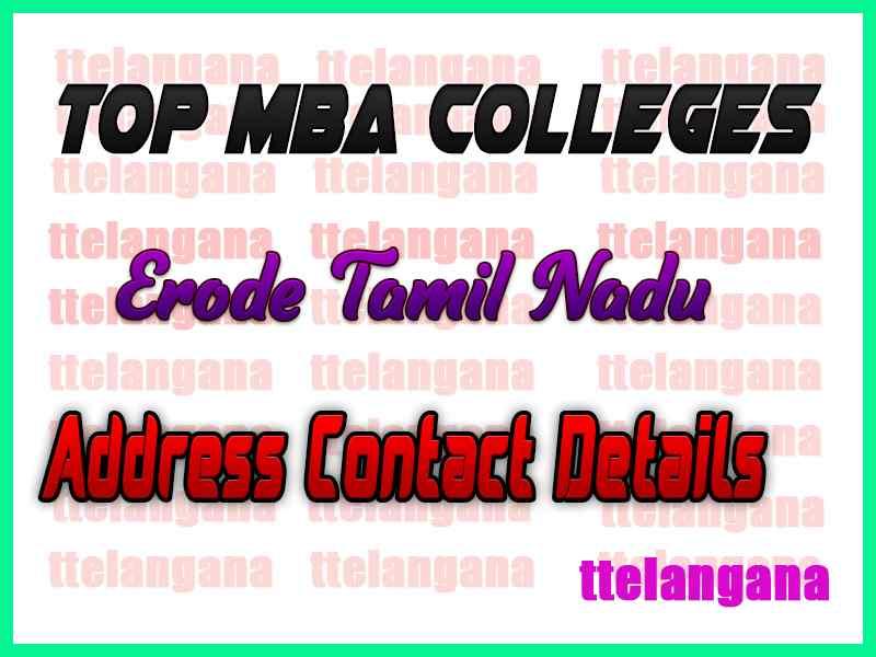 Top MBA Colleges in Erode Tamil Nadu