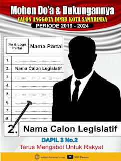 Download Contoh Baliho Caleg Format CDR