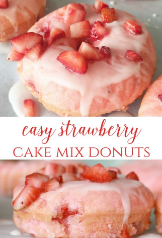 STRAWBERRY BAKED DONUTS
