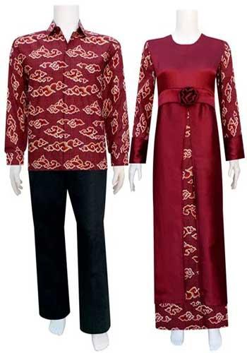 Baju batik couple dengan lengan panjang
