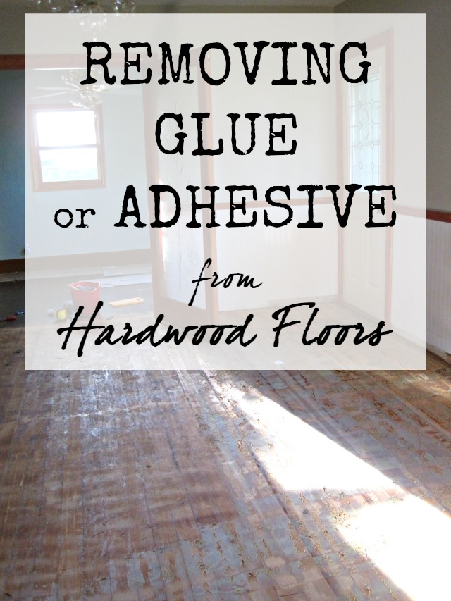 PIN IT - Removing Glue (or Adhesive) From Hardwood Floors The Speckled