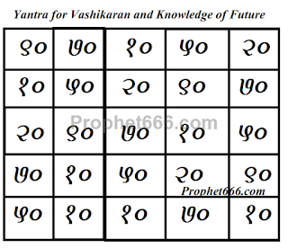 Yantra for Attraction, Wealth and Knowledge of Future