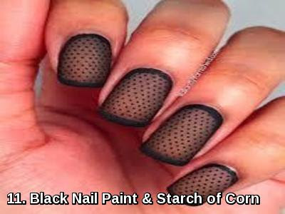 Black Nail Paint & Starch of Corn