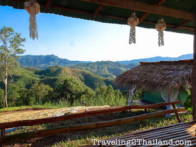 View from Strawberry Farm along route 1081 in Nan - Thailand