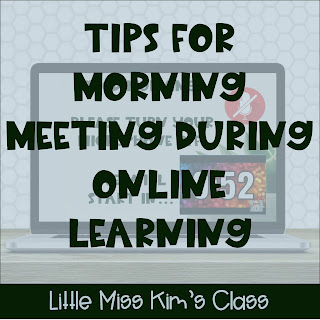 Tips for morning meeting during online learning