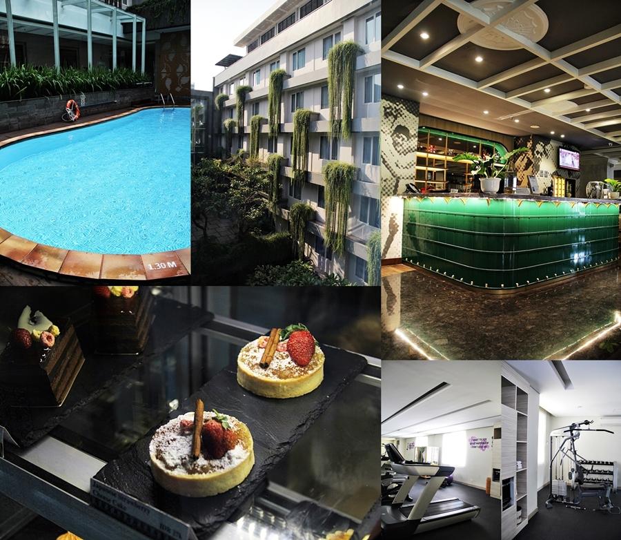 pool bar cakes hotel jakarta indonesien