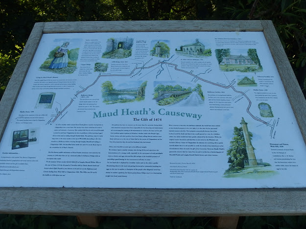 The new interpretation board over the road from Kellaways Arches
