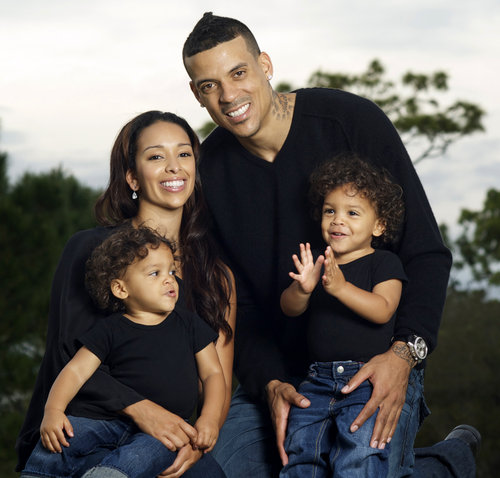 Matt Barnes with nice, Girlfriend Anansa Sims