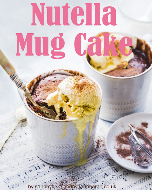 Nutella Mug Cake-Perfect Mug Cake for your family