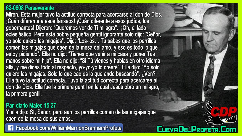 Ella tuvo la actitud correcta - William Branham en Español