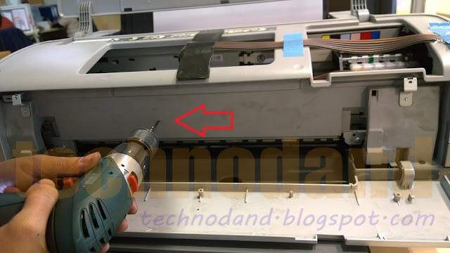 Cara seting Karet Roll penarik kertas 1390 tanpa bongkar casing