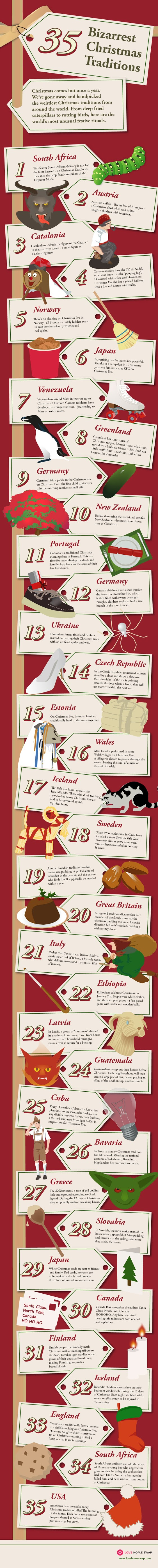30+ Weird Christmas Traditions Around The World [infographic]