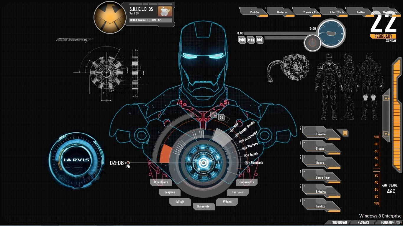 Tony Stark Hd Wallpapers Solv The Probs Jarvis For Windows Turn Your Computer