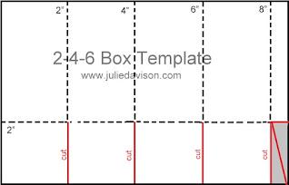 2-4-6 Box Template ~ www.juliedavison.com