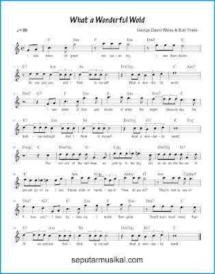What a Wonderful World chords jazz standar