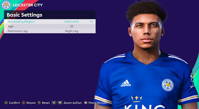 PES 2021 Faces James Justin by Rachmad ABs