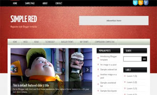 Simple Red Blogger Template