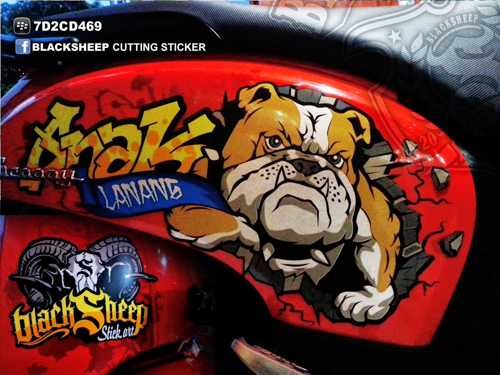 sticker bulldog scoopy cutting sticker