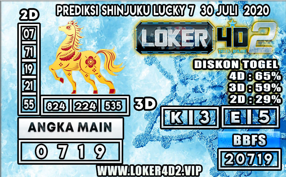 PREDIKSI TOGEL LOKER4D2 SHINJUKU LUCKY 7 30 JULI 2020