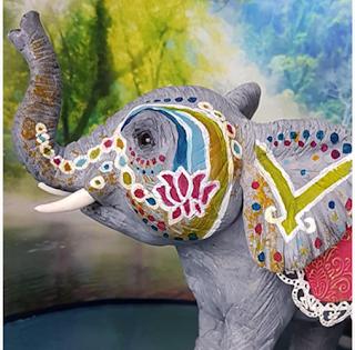 Éléphant Sri Lankais - Claudia Kapers de Capri Cakes
