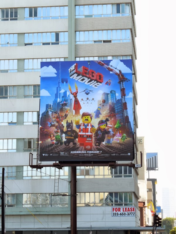 daily billboard  movie week  the lego movie billboards