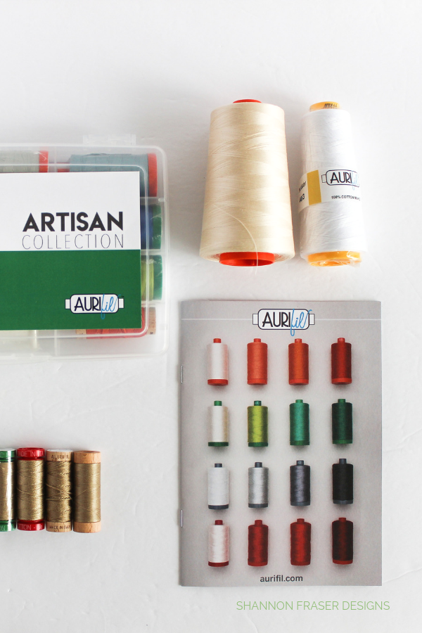 Details of Aurifil Artisan Collection 2019 | Shannon Fraser Designs