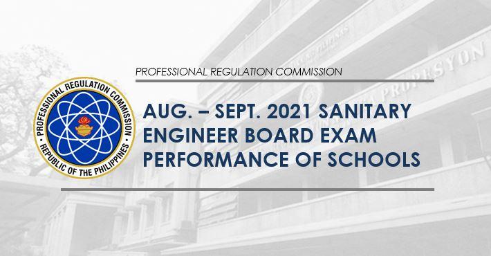 August-September 2021 Sanitary Engineer board exam result