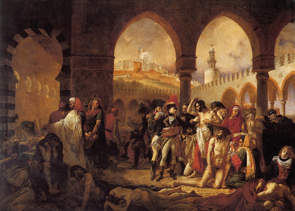 Bonaparte Visiting the Plague-Stricken in Jaffa by Antoine-Jean Gros, Macabre Art, Macabre Paintings, Horror Paintings, Freak Art, Freak Paintings, Horror Picture, Terror Pictures