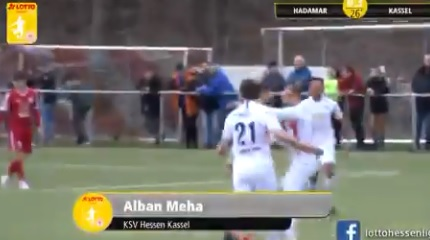 Alban Meha scores a fantastic goal in Germany