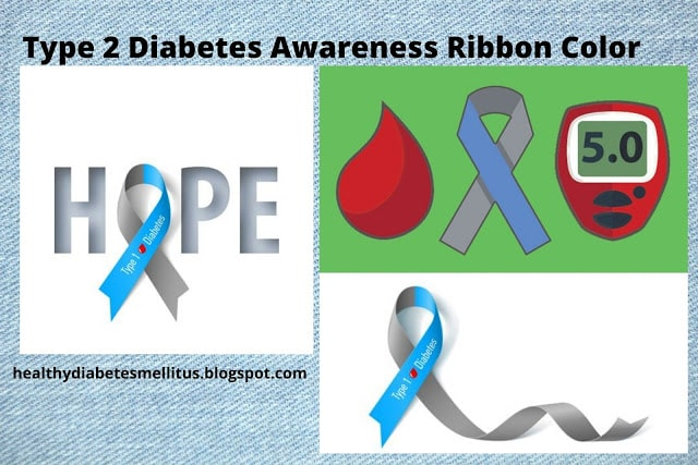Type 2 Diabetes Awareness Ribbon Color
