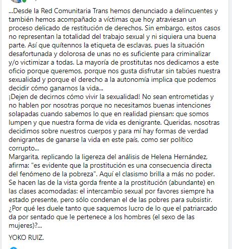 CARTA DE UNA PUTA COLOMBIANA A LAS ABOLICIONISTAS