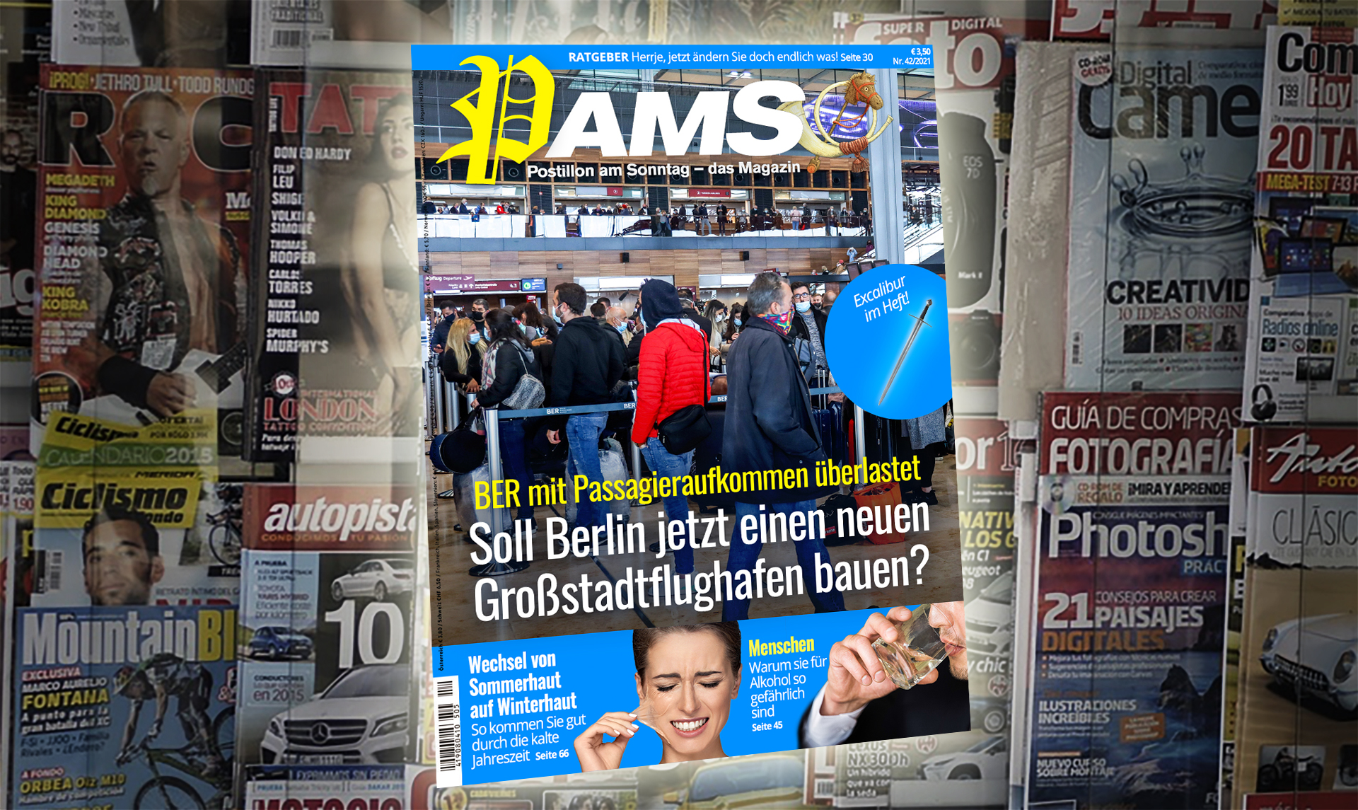 Heute in PamS: BER mit Passagieraufkommen überlastet – Soll Berlin jetzt einen Großflughafen bauen?