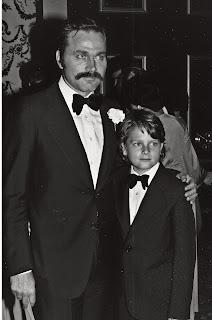 Nero with his and Vanessa Redgrave's son Carlo, in 1979