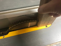 Cutting the slot