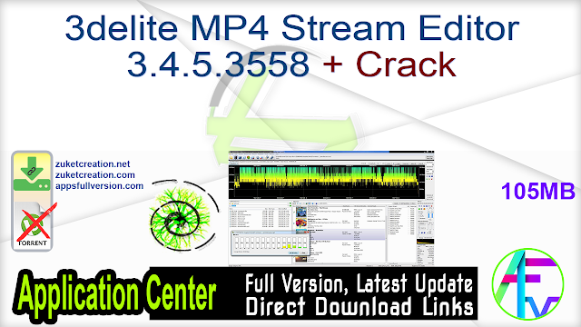 3delite MP4 Stream Editor 3.4.5.3558 + Crack