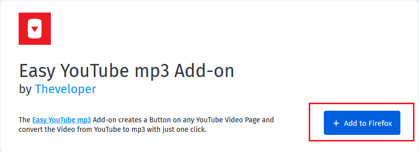 Firefox plug-in to convert YouTube videos to mp3
