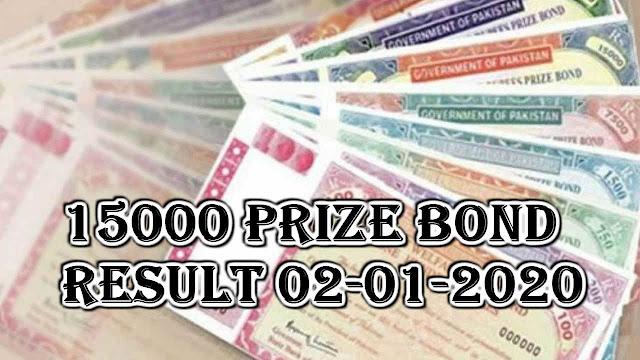 15000 prize bond result 02-01-2020