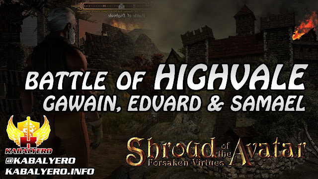 Battle Of Highvale ★ Gawain, Edvard The Bard & Samael The Healer ★ Shroud of the Avatar Gameplay