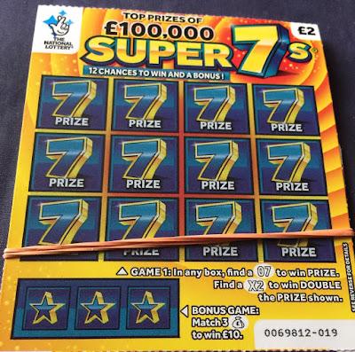 £2 Super 7s Scratchcard